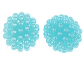 Lot 10 Pearl Turquoise acrylic 10mm raspberry Pearl Chunky Bubblegum Gunball 10 mm, Chunky necklace