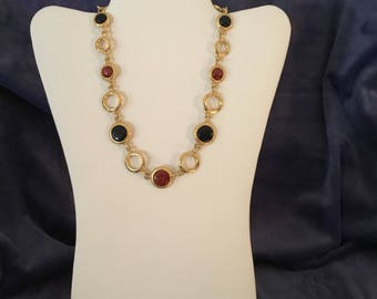 "Beautiful ""Liz Claiborne"" reversible necklace"