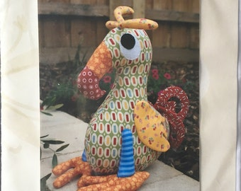 """PATTERN: Dudley toucan ~ MELLY & ME ~ 12"""" tall ~ Fat quarters sewing pattern"""