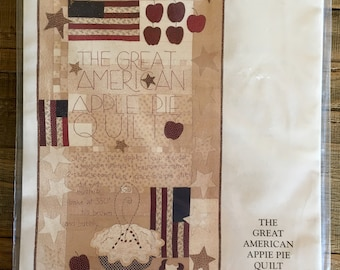 PATTERN: Great American Apple Pie Quilt ~ Curtis Boehringer 1998 quilting pattern ~ Folk art, Americana