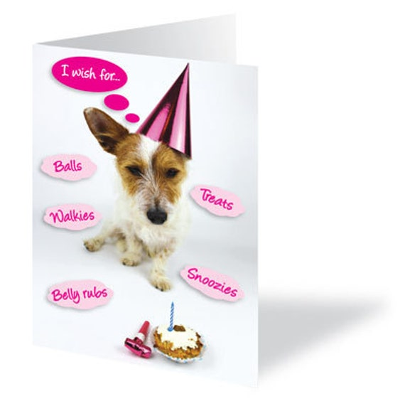 Dog Card Birthday Lover Terrier I Love