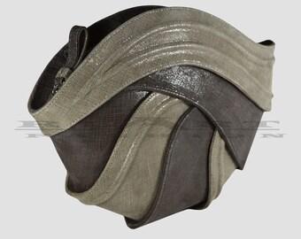 Geometric bag , luxury bag , leather bag , taupe leather bag , unique bag , shoulder bag, cross body bag , designer bag ,futuristic fashion