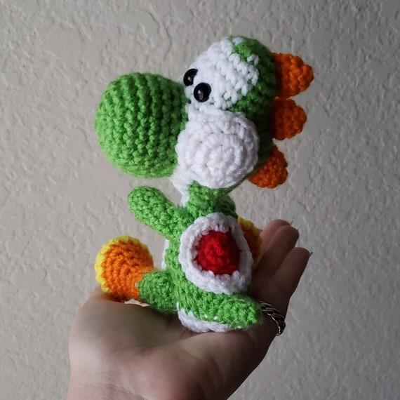 Yoshi Plushie Yarn Yoshi Crochet Stuffed Yoshi Yoshis Etsy