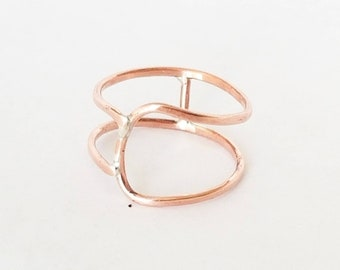 Rustic Geometric Ring