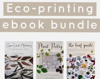 Eco-printing ebook bundle // learn how to eco-print on cotton and paper //PDF