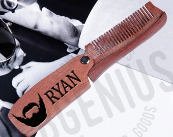 Folding beard comb | Etsy