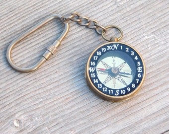 Compass keychain,  Personalized keychain, Engraved Keychain, Custom Keychain, Wedding Favors, Birthday Gift, Groomsmen Gifts, Fathers day