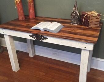 Beau Shabby Chic Desk, Reclaimed Wood Desk, Shabby Chic, Distressed Wood Desk,  Wooden Desk, Reclaimed Wood Table, Shabby Chic Table