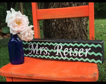 Name block, teacher block, teacher name block, teacher gift, reclaimed wood name block, personalized wood, personalization, decorative name