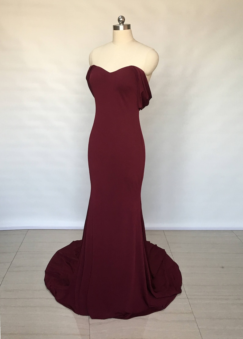 e8b60d71dd4b Long Burgundy Off The Shoulder Prom Dress - raveitsafe