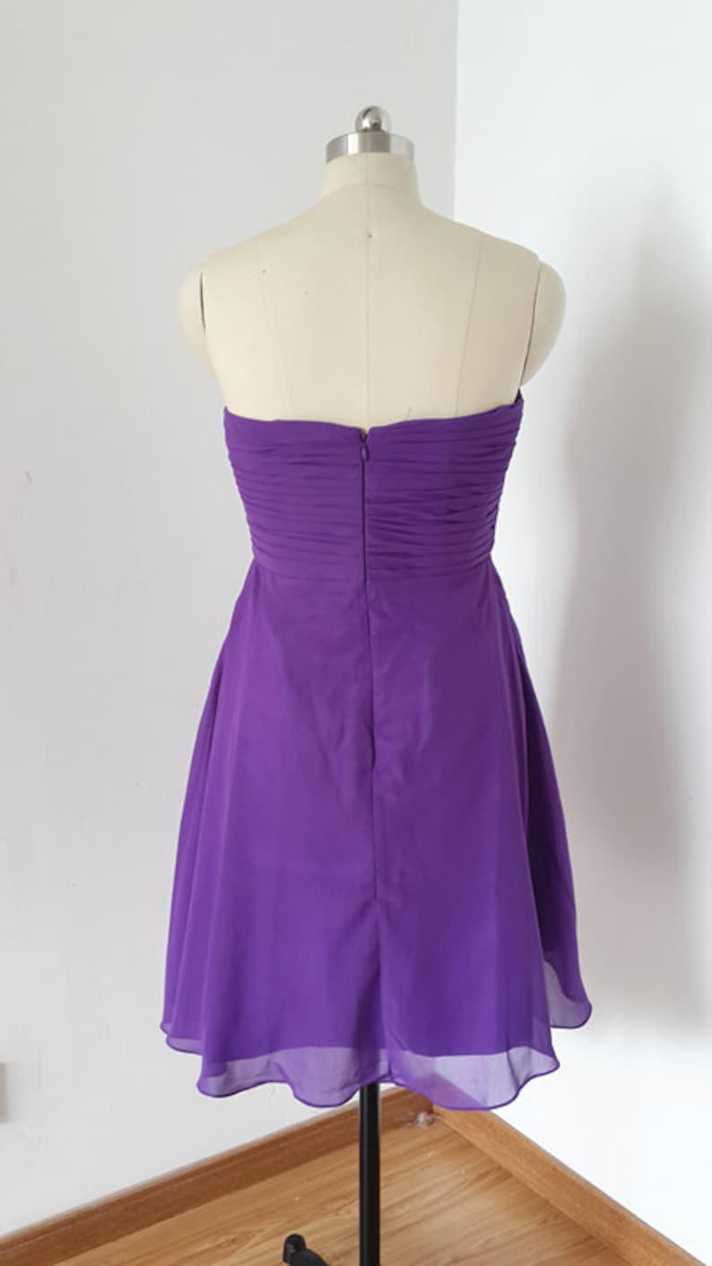 Sweetheart Light Purple Chiffon Short Bridesmaid Dress
