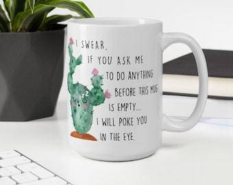 Go Sit On A Cactus Mug Gift35 Funny Cactus Mug Cacti Gift For Her Trending Mug