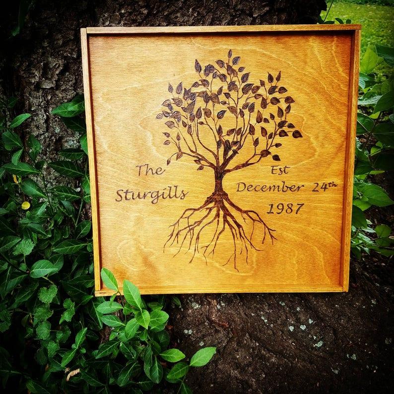 Delicieux Customizable Wood Burning Tree Of Life, Anniversary Gift, Wedding Gift