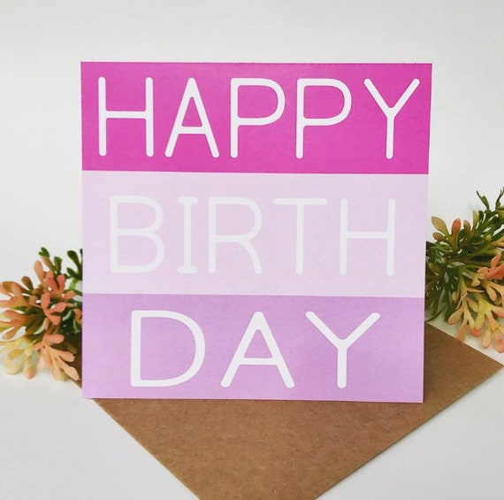 Happy Birthday Card Wishes Pink