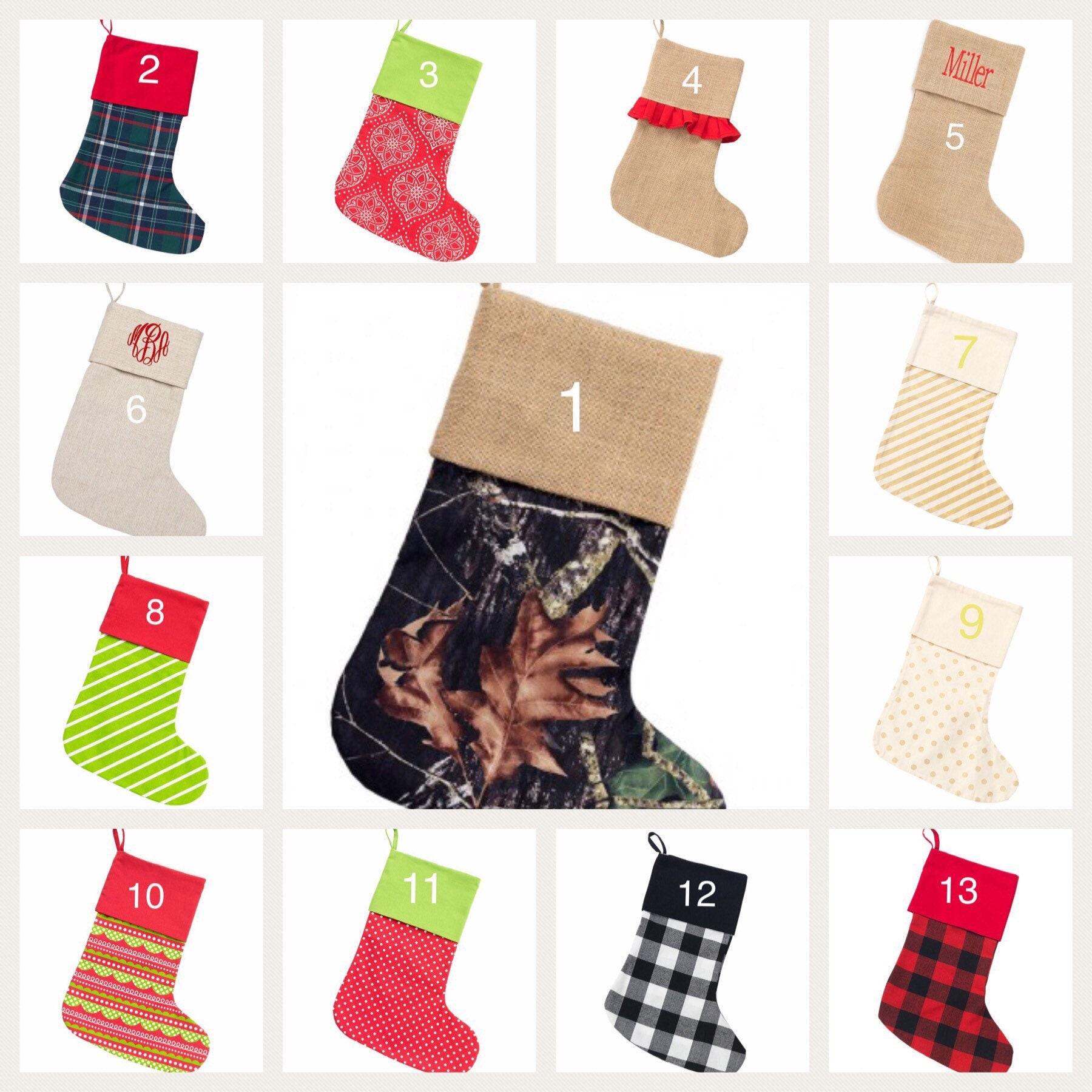 Monogrammed Christmas Stockings/ Personalized Christmas | Etsy