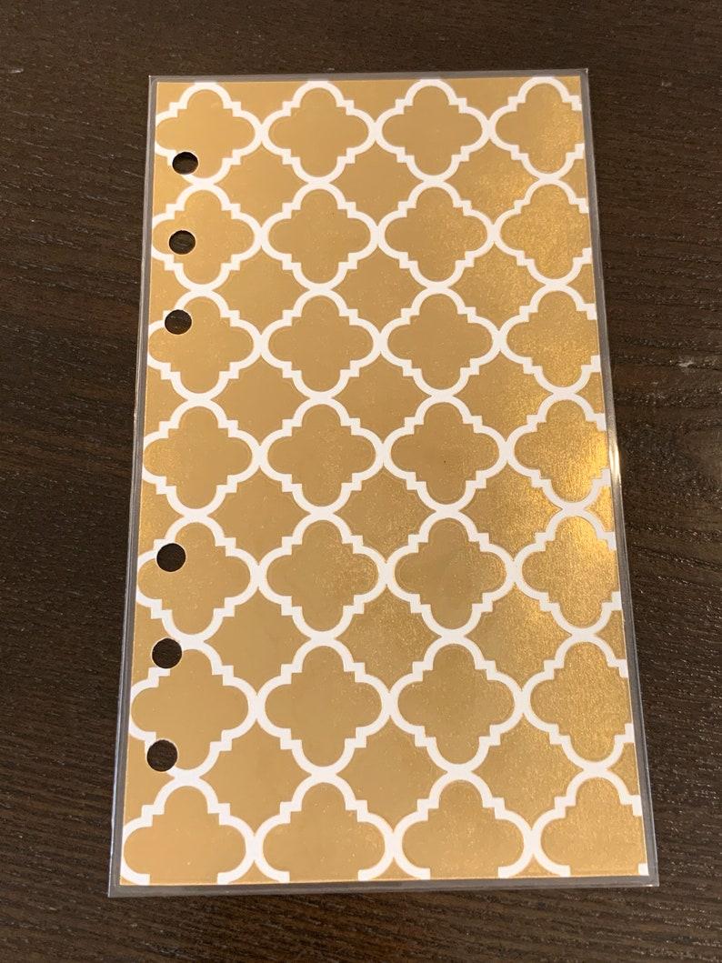 Personal Filofax Kikki K Medium Planner Dashboard Gold Foil on image 0