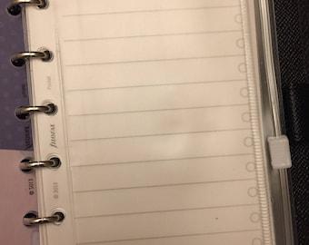 Pocket Filofax Kikki K Small Planner Clear Zip Pouch