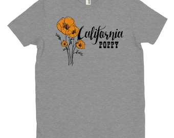 California Poppy T-shirt, Wildflowers, State Flower