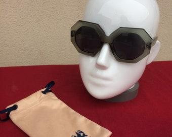 bf98d0ca99b Vintage Spanish Designer Mod Sunglasses Statement sunnies eyewear woman  goggles pentagonal