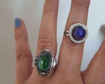 Moon mood rings statement 90s ring