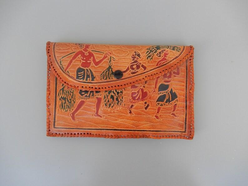e56b2172 Vintage Indian genuine Leather clutch wallet ethnic bag | Etsy