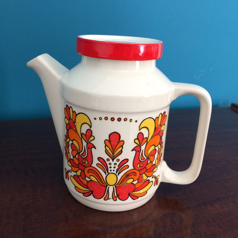 0e99e3945d9 Vintage Kaffeekanne Tee Kanne portugiesische Keramik Fayence | Etsy