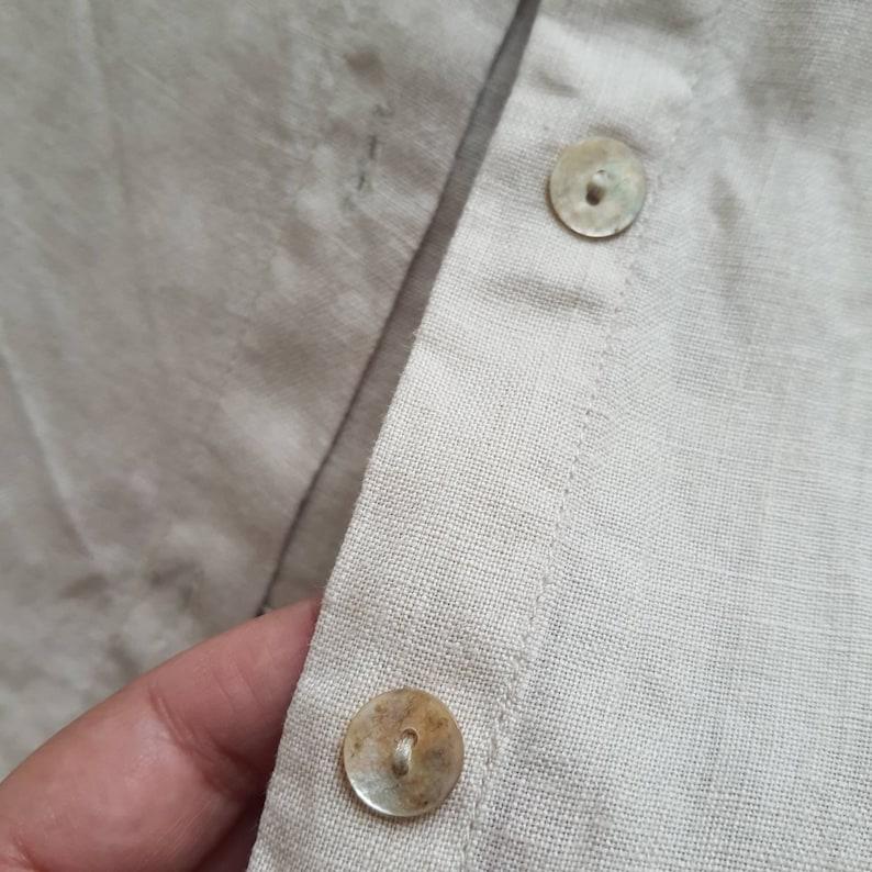 Alain Manoukian 100/% linen blouse shirt organic linen beige