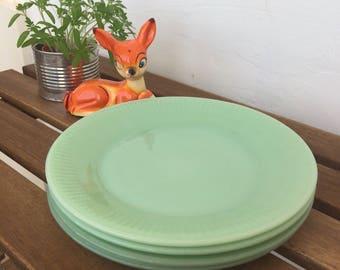 One Dessert dish jadeite fire king jane ray