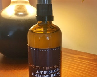 Smooth Criminal After-Shave Finishing Balm by Ultimate Beards in gift bag. 100ml of post-shave perfection.