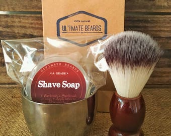 Ultimate Beards shave soap and prep kit!