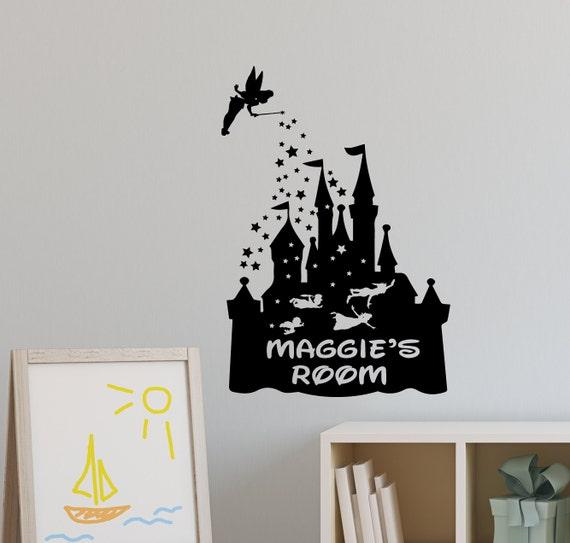 personalised disney castle wall sticker / hogwarts castle wall | etsy