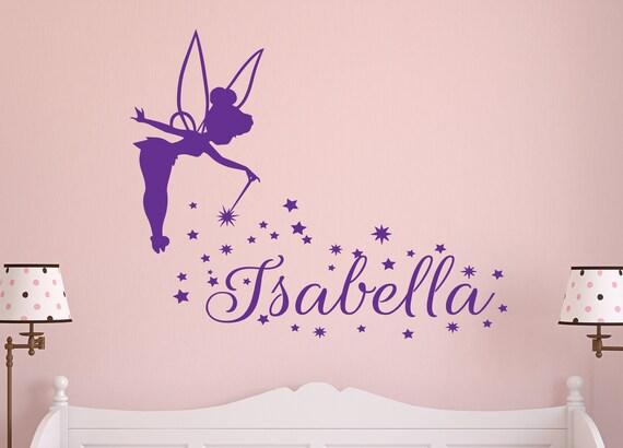 Monogramm Kinderzimmer Wandtattoo Schmetterling / personalisierte Name  abnehmbare