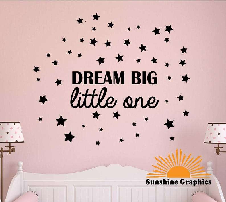 dream big iittle one wall decal removable wall art / wall | etsy