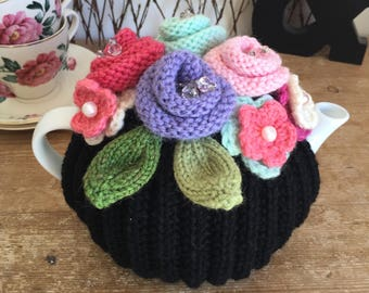 Hand Knitted Tea Cosy, Tea cosies, Tea Cozy (2-4 cup)