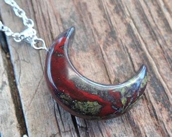 Tie Clip KeyChain Moon \u2022 Blood Moon \u2022 Jewelry Pendant Necklace Earrings Ring Cufflinks