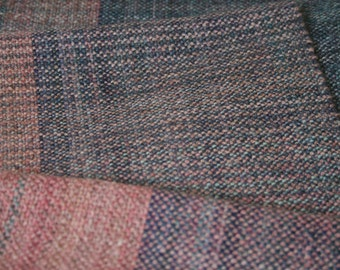 Unique handspun handwoven wool scarf
