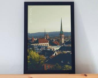 Zurich Poster 11x17 18x24 24x36