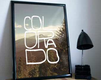 Colorado Type Poster 11x17 18x24 24x36