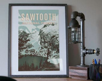 Sawtooth Natl Forest Poster 11x17