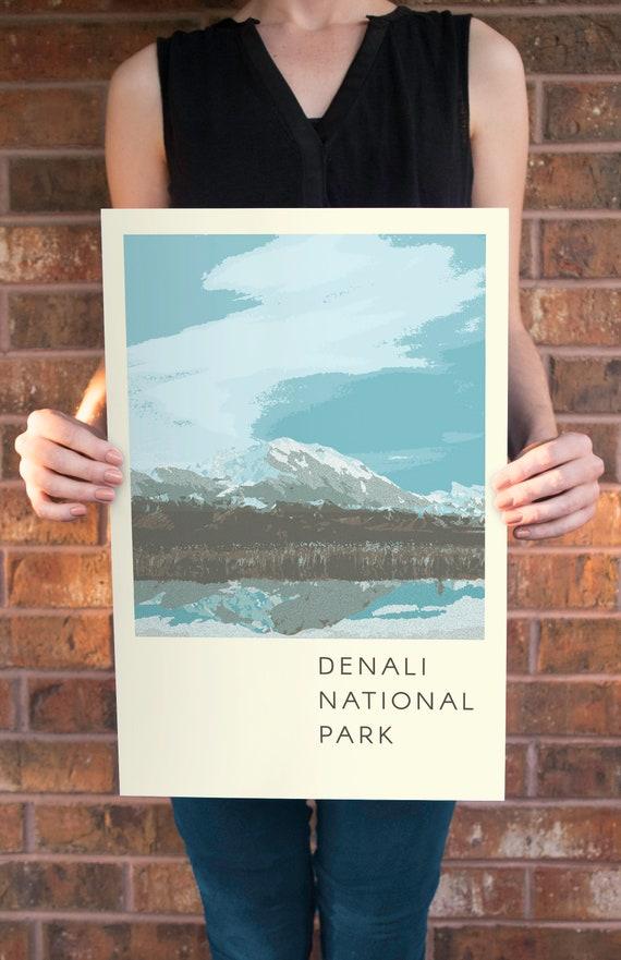 Denali National Park Poster Etsy