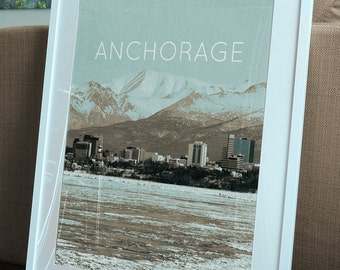 Anchorage, AK Poster 11x17 18x24 24x36