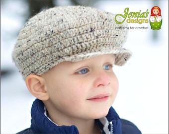 CROCHET PATTERN - Scally Cap (Newsboy Hat) for Baby c492bda94ae6