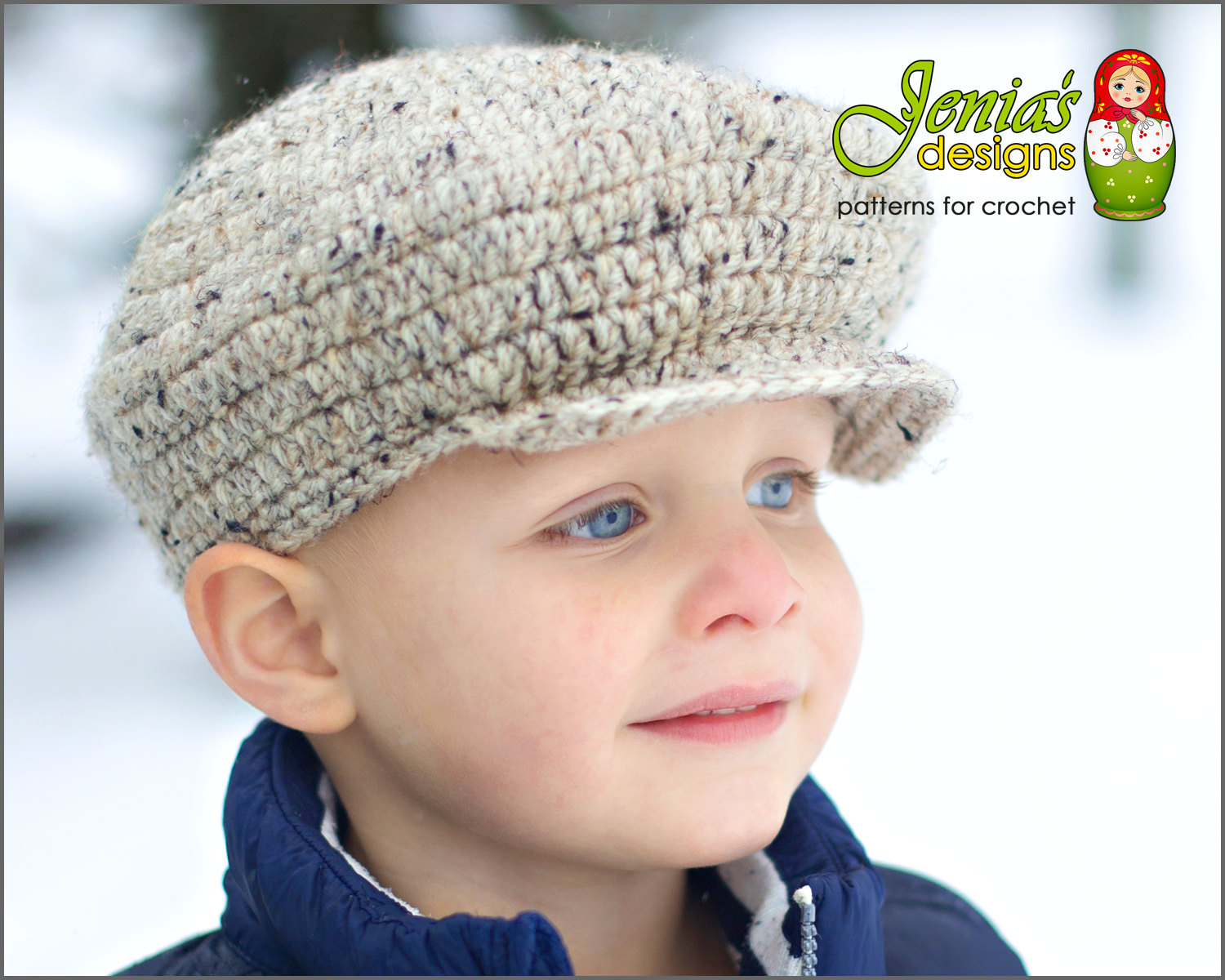 CROCHET PATTERN - Scally Cap (Newsboy Hat) for Baby, Infant, Toddler ...