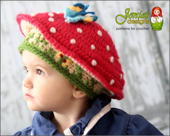 Crochet Pattern Toadstool Hat Pattern For Baby Toddler Etsy