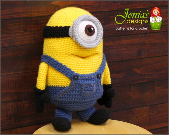 CROCHET PATTERN - Crochet Minion Toy Pattern