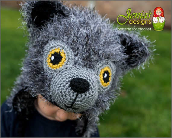 CROCHET PATTERN Wolf Animal Hat Pattern for Baby Toddler  b1a6cb70cf6