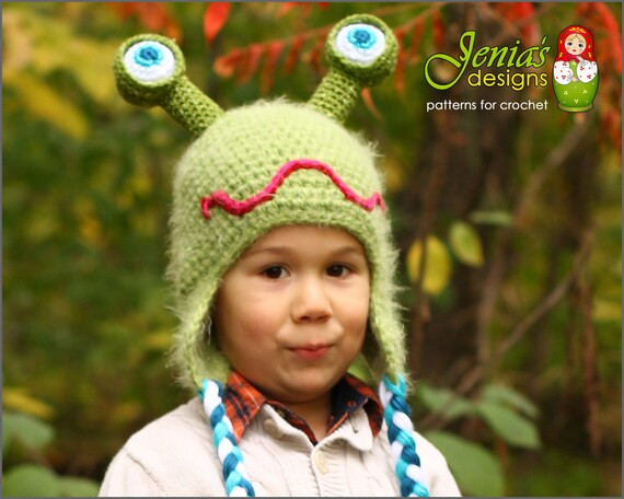 Crochet Pattern Crochet Alien Monster Hat For Baby Infant Etsy