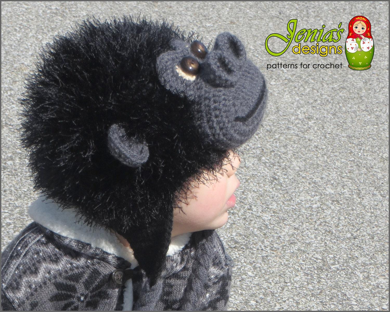 Crochet Pattern Monkey Animal Hat For Baby Toddler Child Etsy