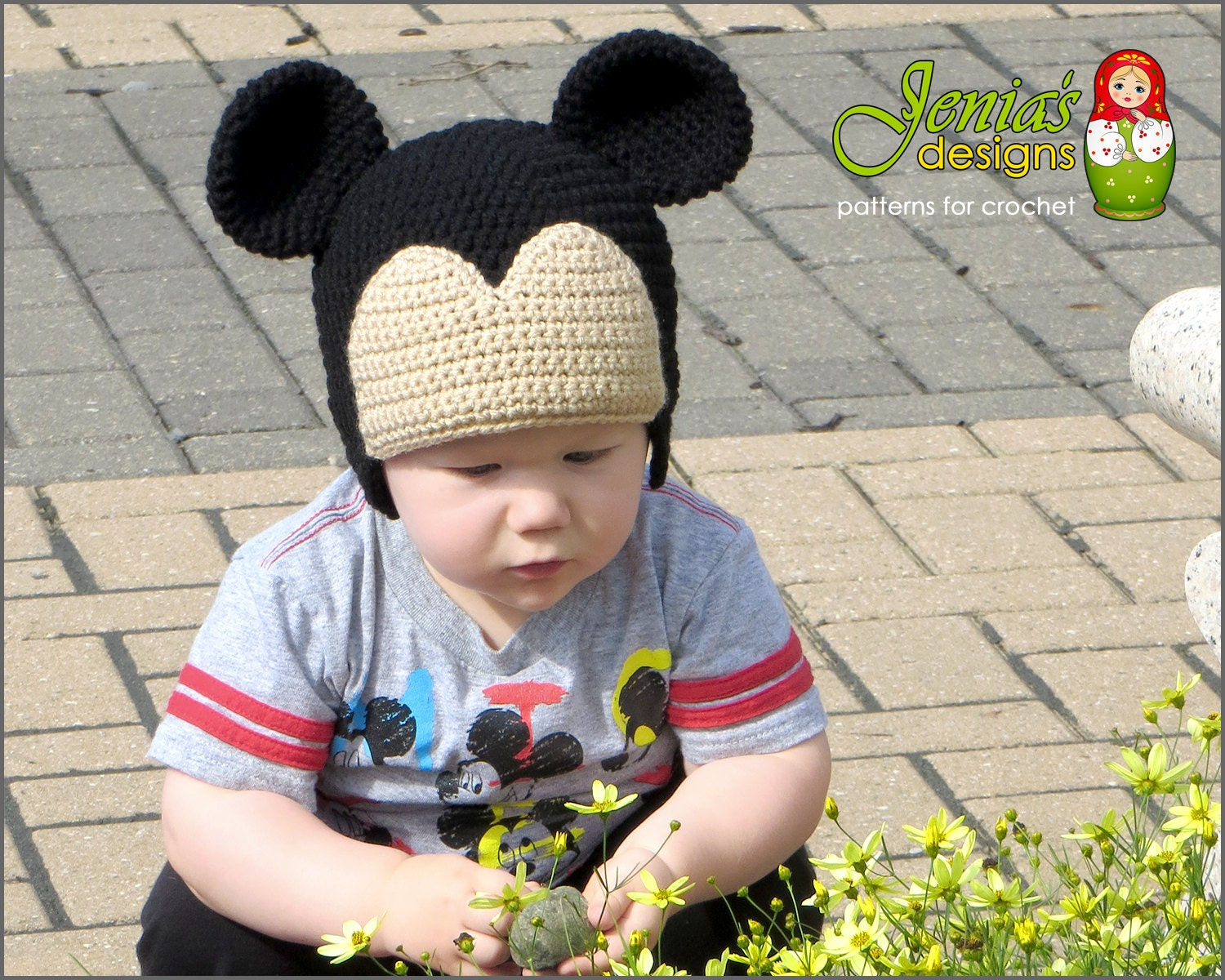 Crochet Pattern Mickey And Minnie Mouse Inspired Crochet Hat Etsy