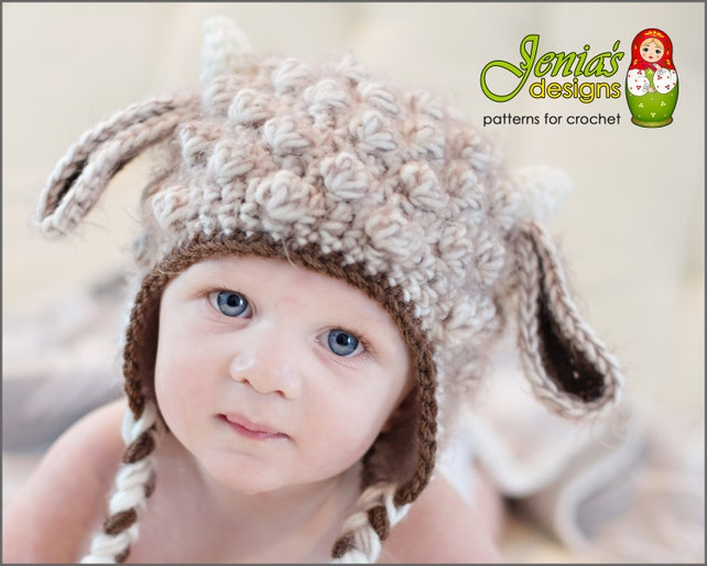 Crochet Pattern Crochet Goat Animal Hat Pattern For Baby Etsy